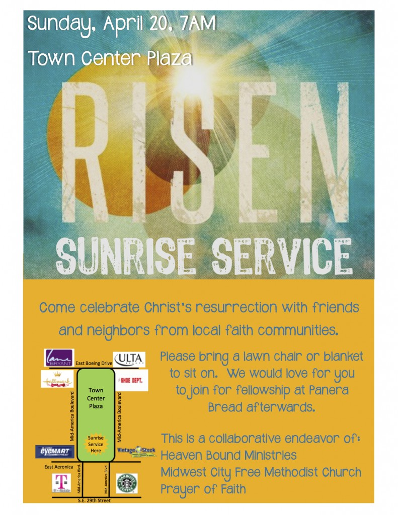 Sunrise Service Flyer