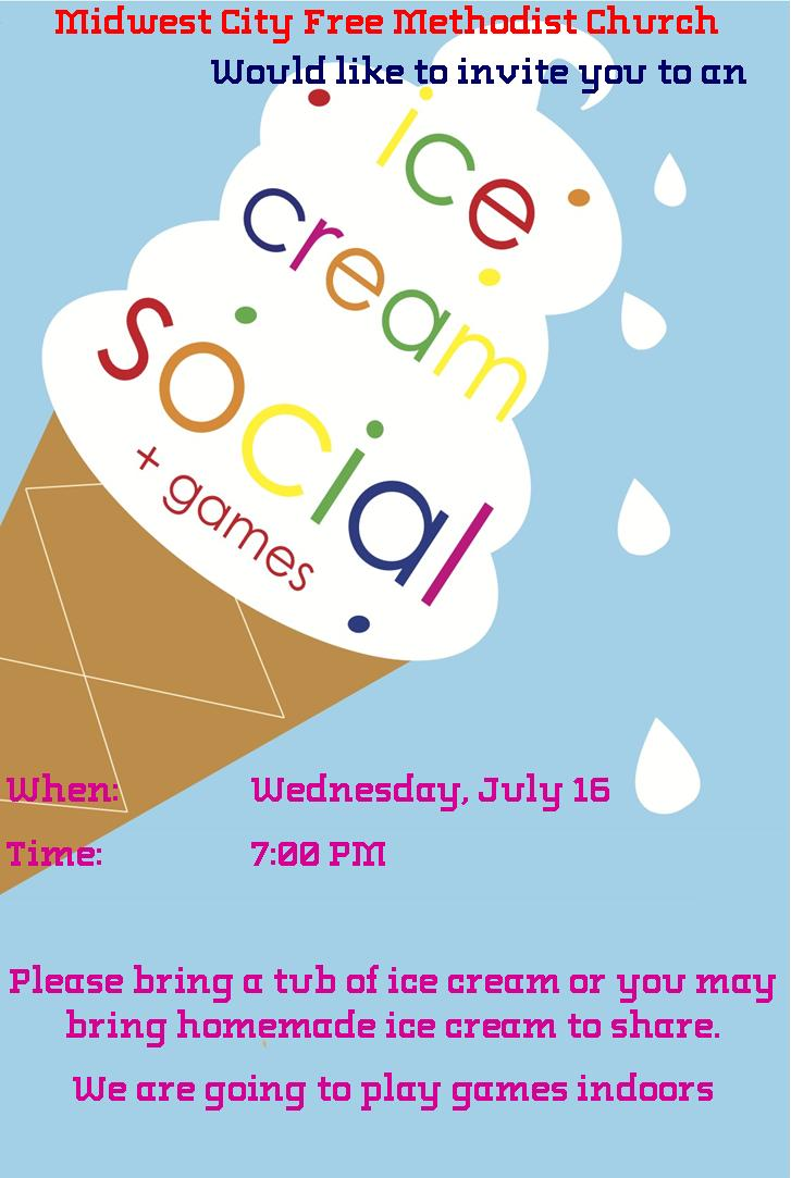 Ice Cream Social 7 16 14 Midwest City Free Methodist